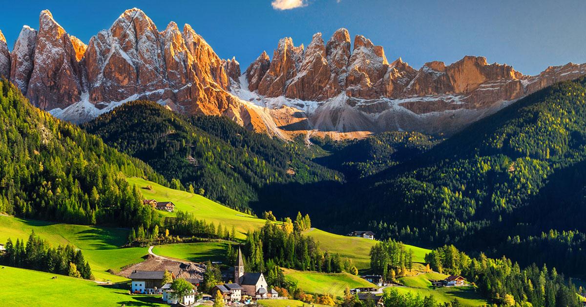 Austria, Alto Adige, Trentino, Lombardia, Valle D'Aosta, Lazio e Abruzzo